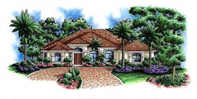 Contemporary House Plan 60572 Elevation