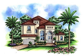Mediterranean House Plan 60579 Elevation
