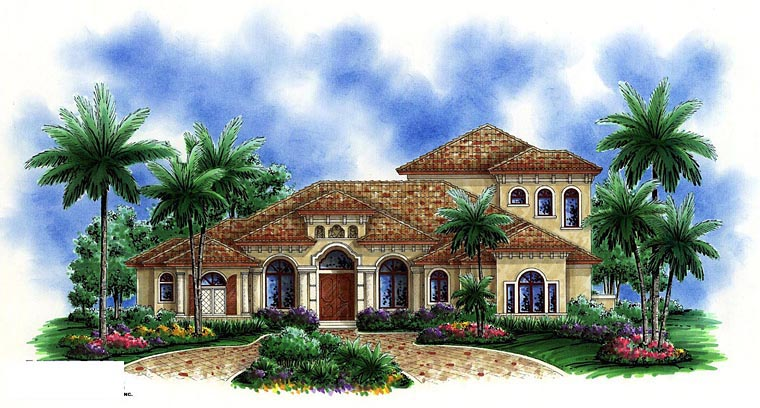 Mediterranean House Plan 60582 Elevation