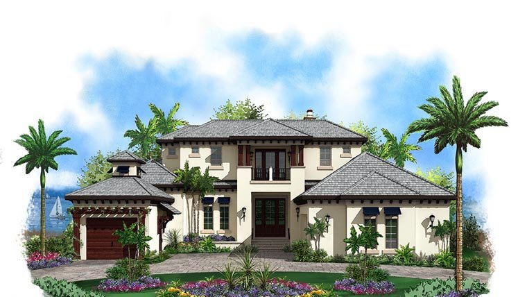 Florida House Plan 60584 Elevation