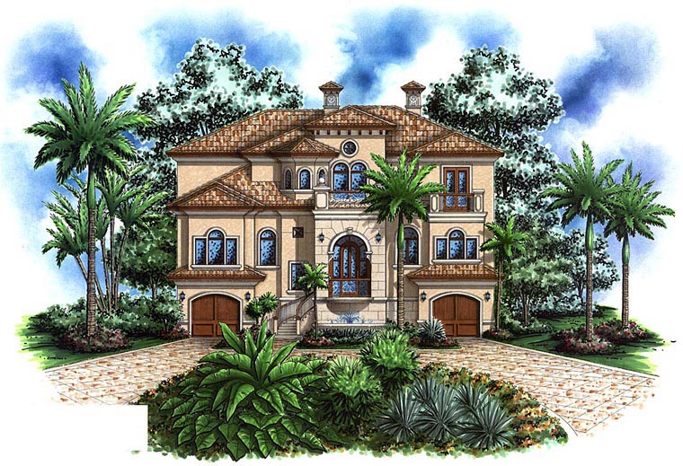 Mediterranean House Plan 60585 Elevation