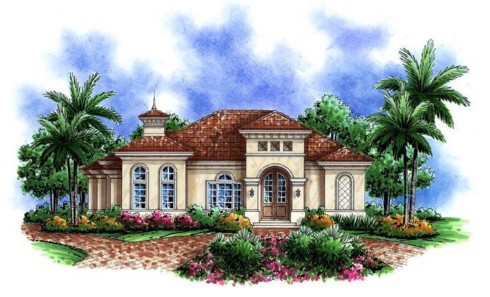 Mediterranean House Plan 60592 Elevation
