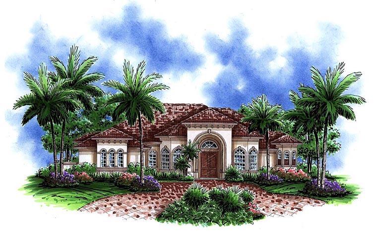 Mediterranean House Plan 60594 Elevation