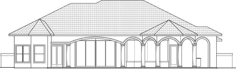 Mediterranean House Plan 60594 Rear Elevation