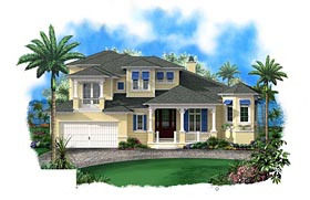 Coastal House Plan 60595 Elevation