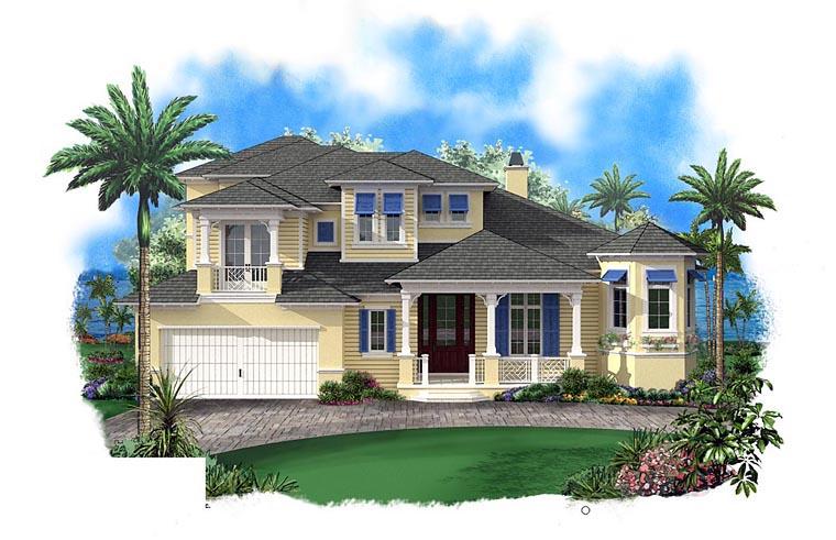 Coastal House Plan 60595 Elevation