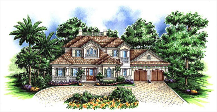 Craftsman Florida House Plan 60598 Elevation