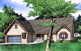 House Plan 60615 | Style Plan with 2750 Sq Ft, 3 Bedrooms, 3 Bathrooms, 2 Car Garage Elevation