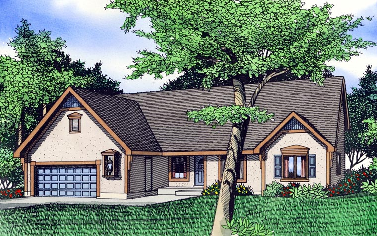 House Plan 60615 Elevation