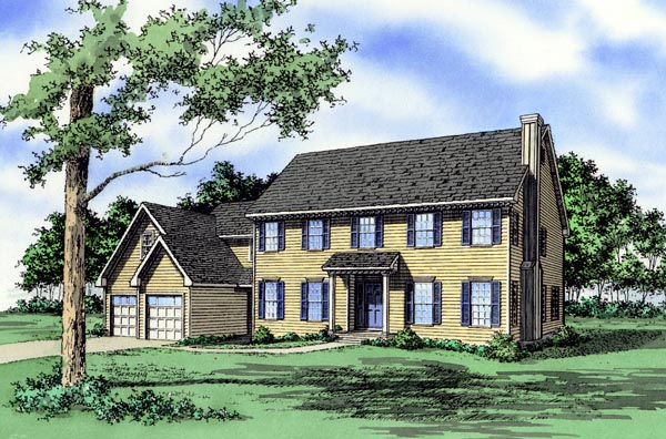 House Plan 60616 Elevation
