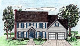 House Plan 60618 | Style Plan with 2946 Sq Ft, 4 Bedrooms, 4 Bathrooms, 2 Car Garage Elevation