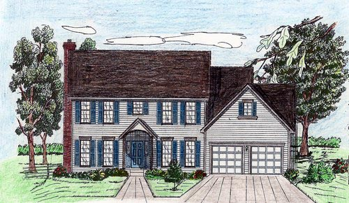 House Plan 60618 with 4 Beds, 4 Baths, 2 Car Garage Elevation