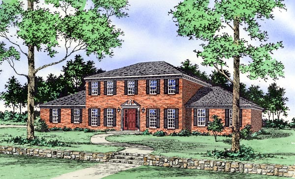 House Plan 60623 Elevation
