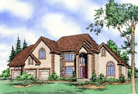 House Plan 60625 Elevation