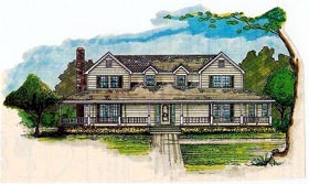House Plan 60626 Elevation