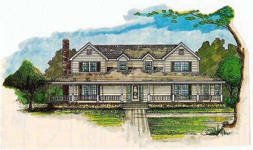 House Plan 60626 Elevation