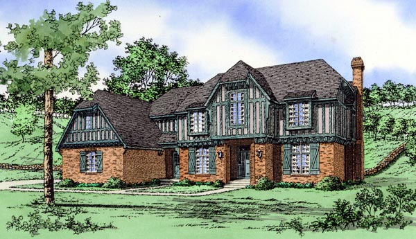 House Plan 60627 Elevation