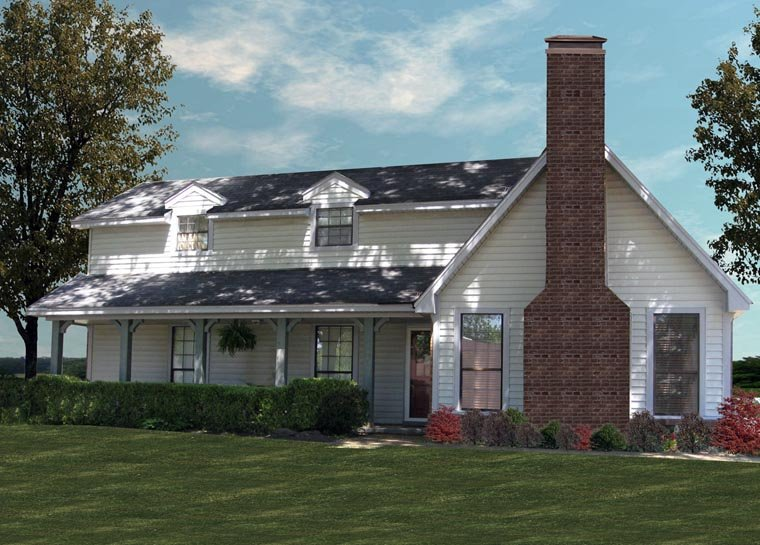 House Plan 60636 with 4 Beds, 2 Baths, 2 Car Garage Elevation