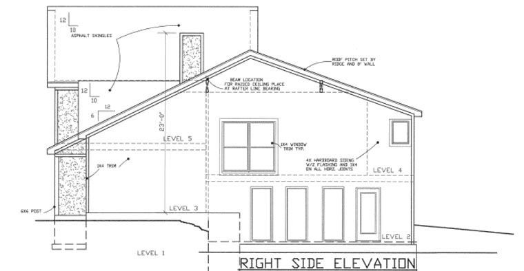 House Plan 60638 with 4 Beds, 3 Baths, 3 Car Garage Picture 2