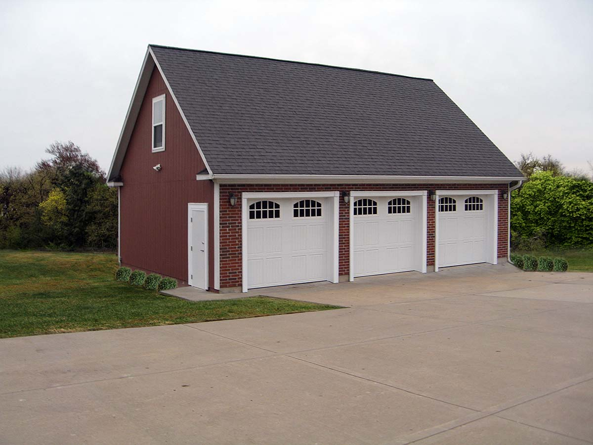 Cape Cod, Traditional 3 Car Garage Plan 60685 Elevation