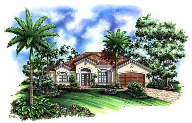 Florida Mediterranean House Plan 60716 Elevation
