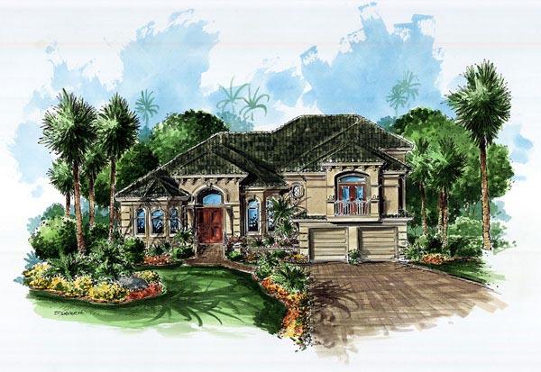 Mediterranean House Plan 60729 Elevation