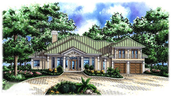 House plan 60785 at for Key west home plans