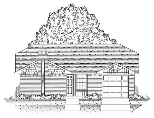Country, Ranch, Traditional House Plan 60800 with 3 Beds, 2 Baths, 1 Car Garage Picture 4