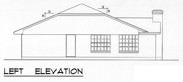 Country, Ranch, Traditional House Plan 60801 with 3 Beds, 2 Baths, 1 Car Garage Picture 1