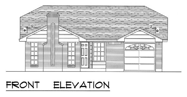 Country, Ranch, Traditional House Plan 60802 with 3 Beds, 2 Baths, 1 Car Garage Picture 3