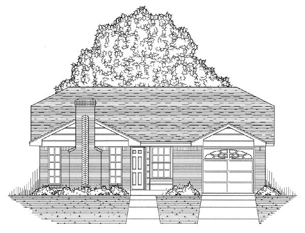 Country, Ranch, Traditional House Plan 60802 with 3 Beds, 2 Baths, 1 Car Garage Picture 4