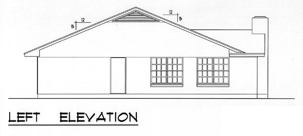 Country, Ranch, Traditional House Plan 60803 with 3 Beds, 2 Baths, 1 Car Garage Picture 1