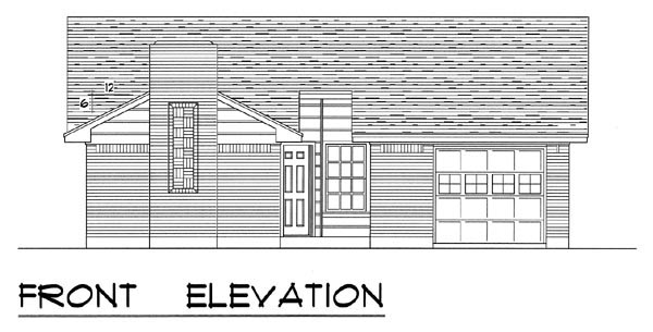 Country, Ranch, Traditional House Plan 60803 with 3 Beds, 2 Baths, 1 Car Garage Picture 3