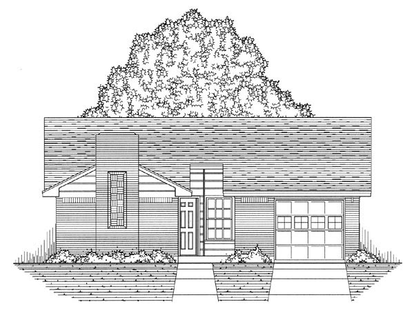 Country, Ranch, Traditional House Plan 60803 with 3 Beds, 2 Baths, 1 Car Garage Picture 4