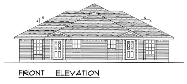 Country, Narrow Lot, Traditional Multi-Family Plan 60817 with 4 Beds, 4 Baths, 4 Car Garage Picture 3