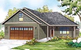 Cottage Country Ranch Traditional House Plan 60900 Elevation