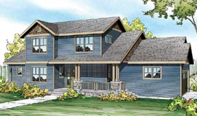 Contemporary , Country , Craftsman , Ranch House Plan 60902 with 3 Beds, 3 Baths, 3 Car Garage Elevation