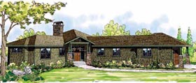 Bungalow Craftsman Florida Ranch House Plan 60906 Elevation
