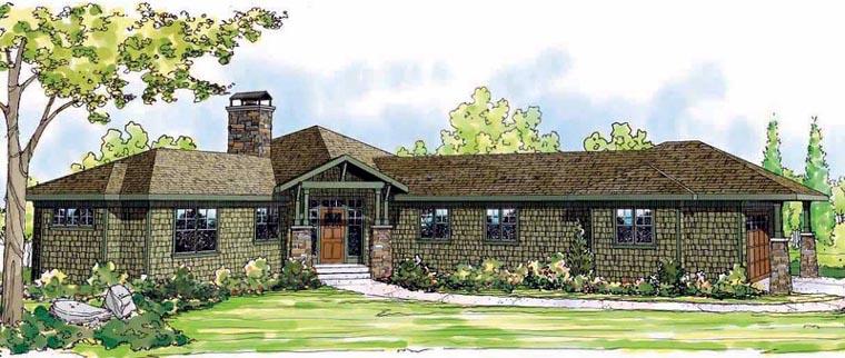 Bungalow Craftsman Florida Ranch House Plan 60906