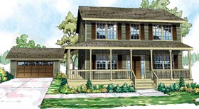 Cottage Country Florida Traditional House Plan 60913 Elevation