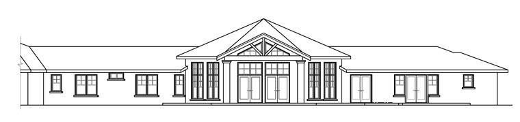 Contemporary Ranch Traditional Tudor House Plan 60916 Rear Elevation
