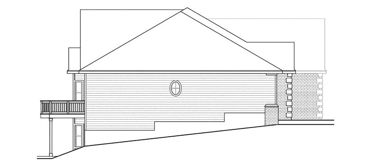 Craftsman, Ranch, Traditional House Plan 60918 with 3 Beds, 3 Baths, 2 Car Garage Picture 1