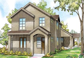 Contemporary , European , Florida , Mediterranean House Plan 60919 with 3 Beds, 4 Baths, 2 Car Garage Elevation