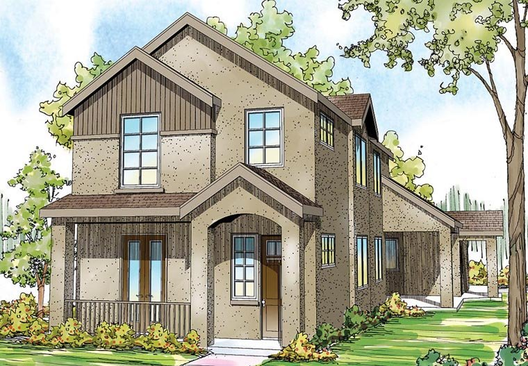 Contemporary European Florida Mediterranean House Plan 60919 Elevation