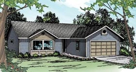 Country Ranch Traditional House Plan 60920 Elevation