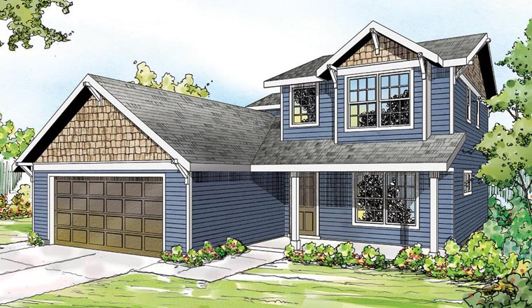 Contemporary Country Ranch Traditional House Plan 60921 Elevation
