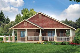 Cottage , Country , Craftsman , Ranch House Plan 60926 with 3 Beds, 2 Baths, 2 Car Garage Elevation