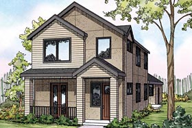 Contemporary Florida Southwest Traditional House Plan 60927 Elevation