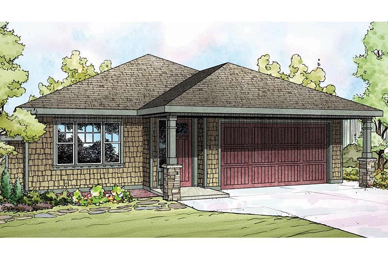 Bungalow Cape Cod Cottage Craftsman House Plan 60930 Elevation