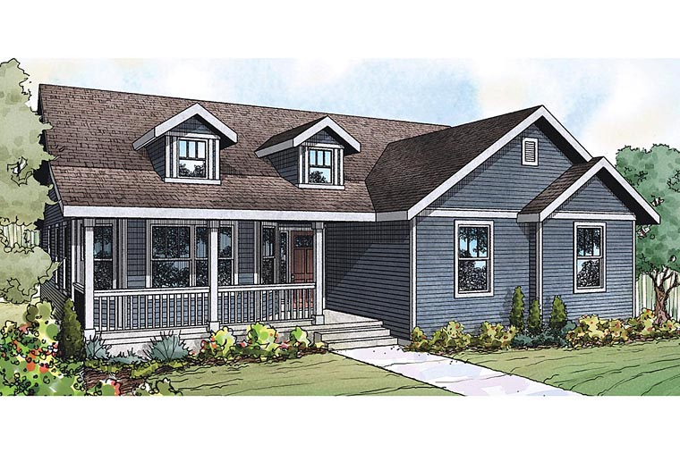 Cottage Country Ranch Traditional House Plan 60931 Elevation